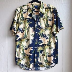 Vintage Guess Jungle Printed Button Down